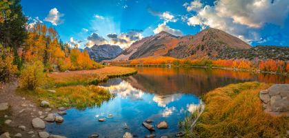 Фото бесплатно горы сша, озеро, осень