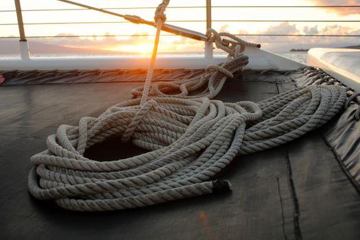 Photo free rope, boat, sunlight