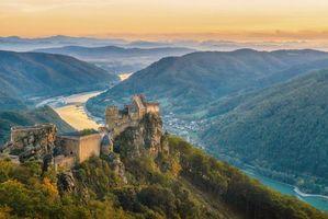 Бесплатные фото Замок Агштейн,Вахау,Дунай,Австрия
