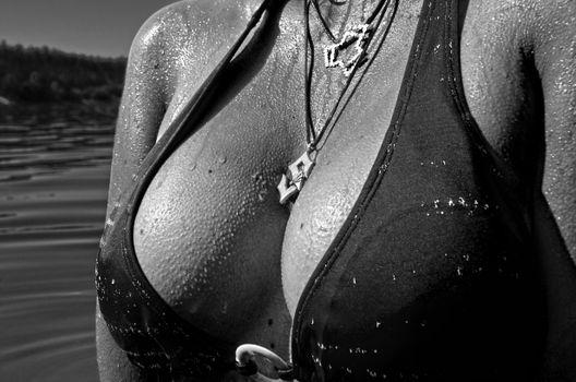 Фото бесплатно черно-белый, женщина, белый