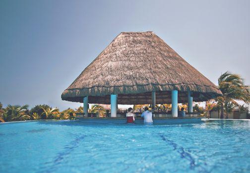 Фото бесплатно женщина, отпуск, бассейн