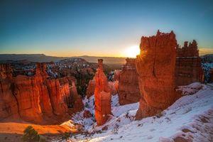 Фото бесплатно Брайс Каньон Национальный парк, закат, пейзаж