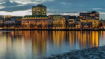 Фото бесплатно гамбург, германия, здание, река, hamburg, germany, buildings, river