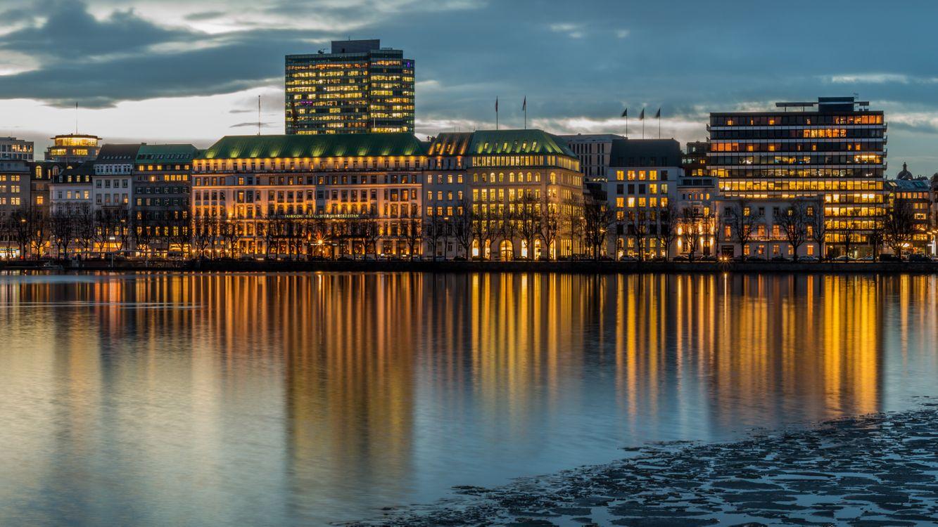 Обои гамбург, германия, здание, река, hamburg, germany, buildings, river на телефон | картинки город - скачать