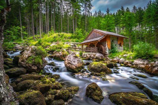 Фото бесплатно природа, Австрия, водяная мельница