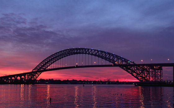 Фото бесплатно нью-джерси, байоннский мост, пейзажи