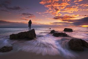 Фото бесплатно Малибу, Калифорния, океан
