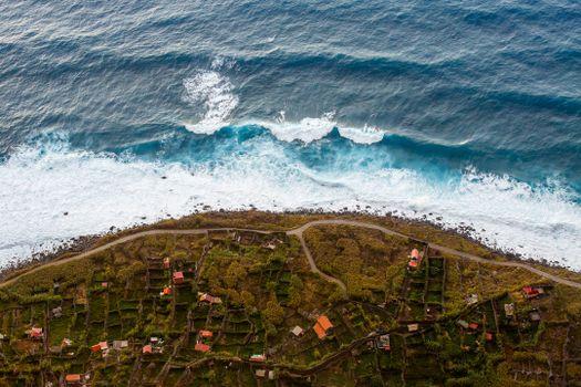 Photo free waves, horizon, wind wave