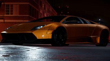 Бесплатные фото жажда скорости,улица,ночь,оранжевый цвет,золотой,lamborghini