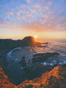 Photo free sunset, picturesque, horizon