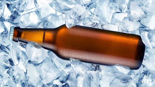 Photo free beer, bottle, ice