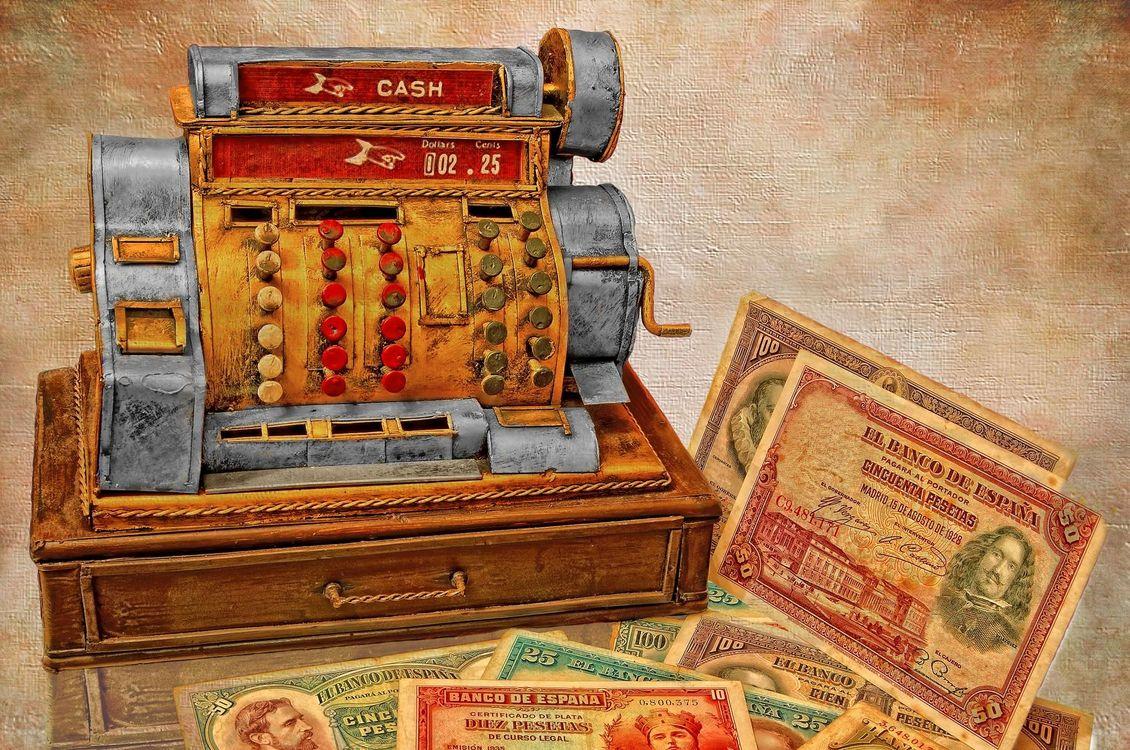 Фото бесплатно кассовый аппарат, деньги, купюры, art, разное