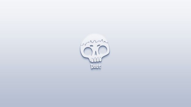 Photo free skull, Doot, logo