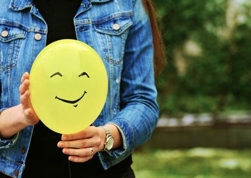 Photo free balloon, smile, hands
