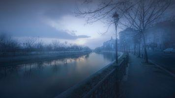 Бесплатные фото Румыния,Бухарест,закат солнца,туман,сумерки,дорога,дома