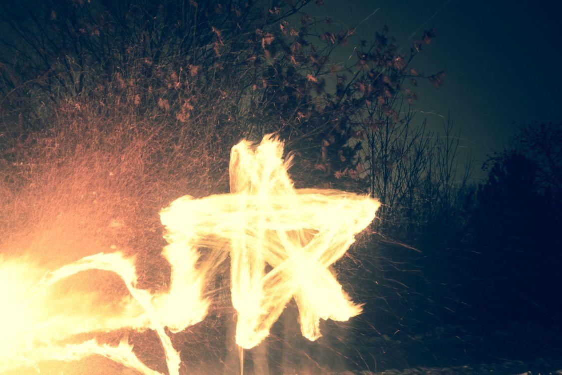 Фото бесплатно огонь, пламя, тепло, звезда, искра, движение, природа, темный, длительное воздействие, разное