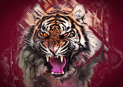 Photo free art, rage, tiger