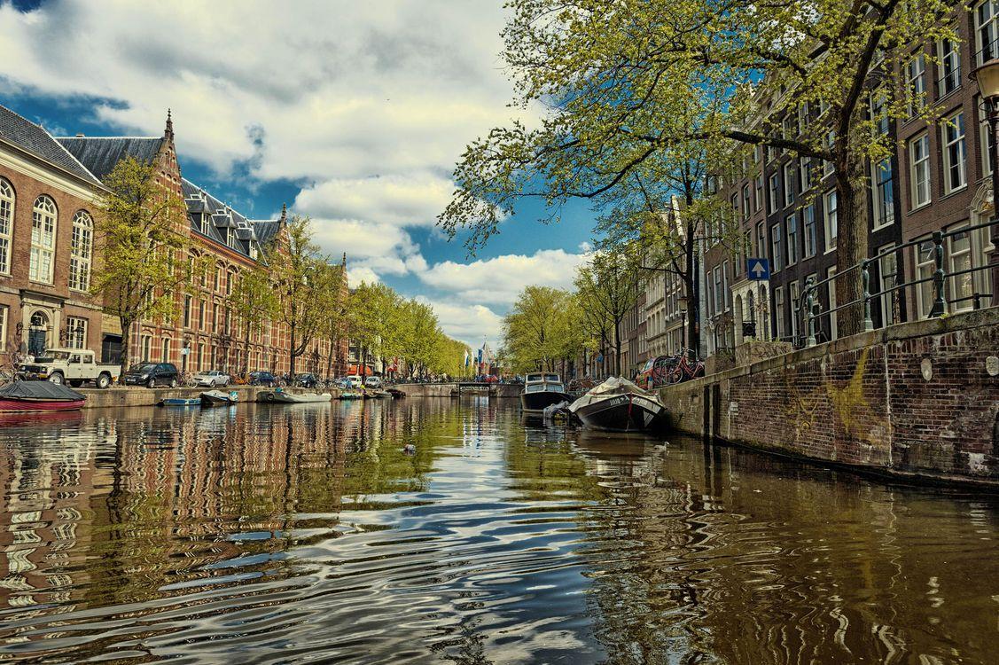 Фото бесплатно канал, Амстердам, Голландия, Нидерланды, город