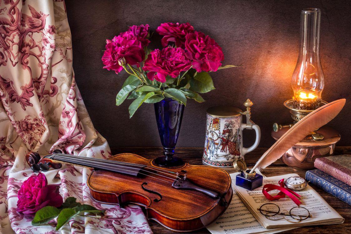 Обои ноты, очки, цветы картинки на телефон