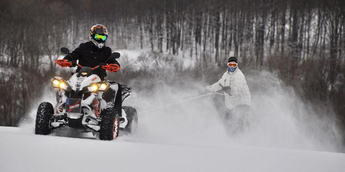 Фото бесплатно atv, четверка, schnee, зима, rodeln, сноуборд, снег, снегоход, средство передвижения, замораживание, зимний вид спорта, вездеход