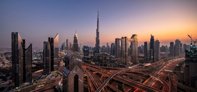 Photo free Dubai, United Arab Emirates, sunset