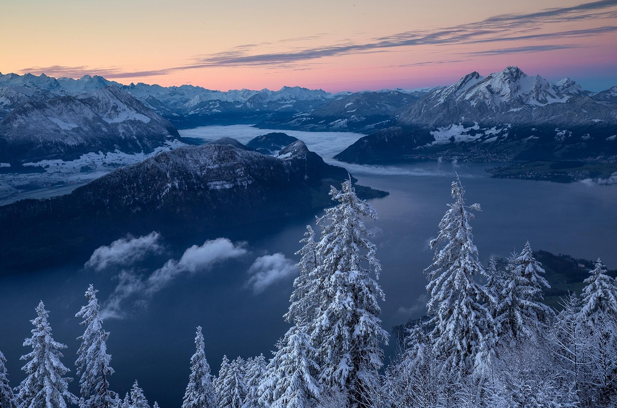 Европа, Альпы, зима