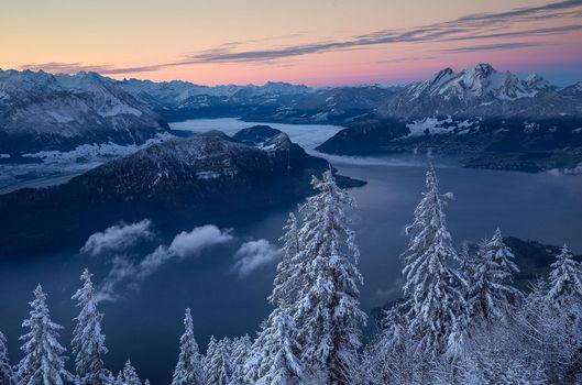 Фото бесплатно Европа, Альпы, зима