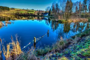 Фото бесплатно пейзаж, пруд, озеро