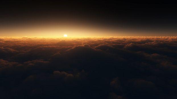 Photo free sun light, sunset, night