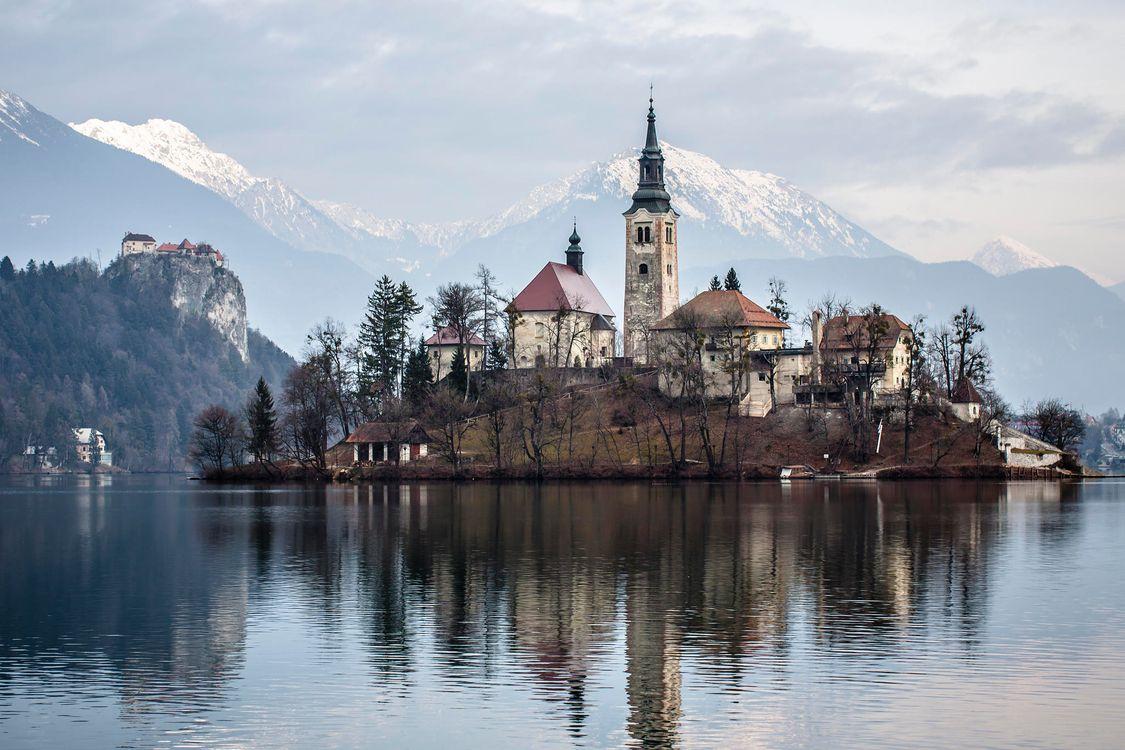 Фото бесплатно Блед Озеро Блед Остров Озеро Блед Словения - на рабочий стол