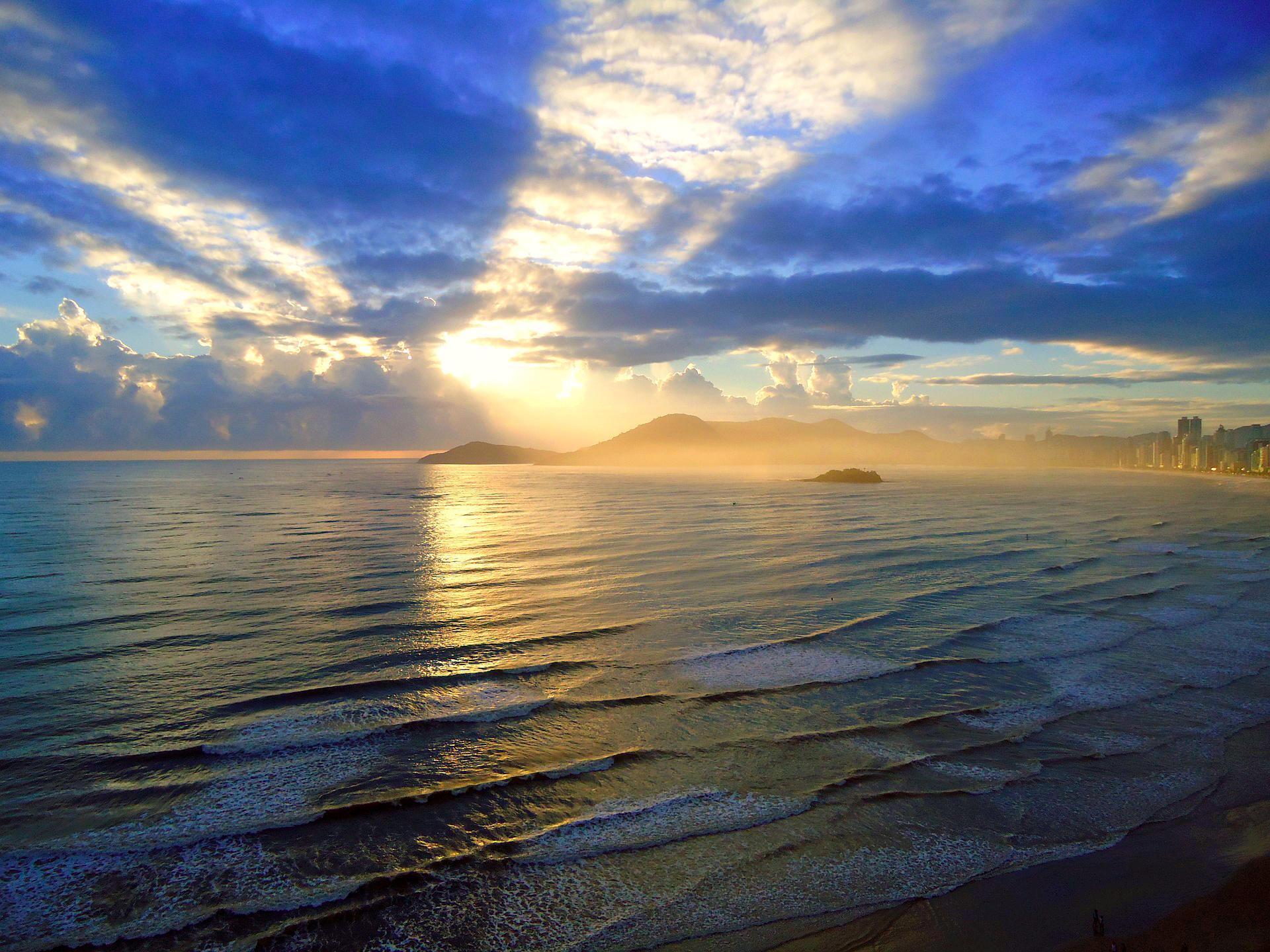 Обои море, закат, пейзаж