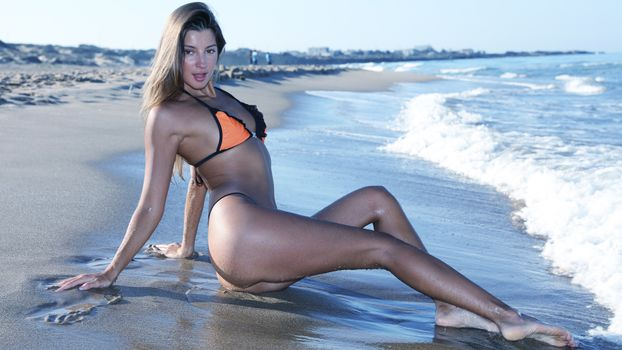 Фото бесплатно бикини, пляж, Мария Рябушкина