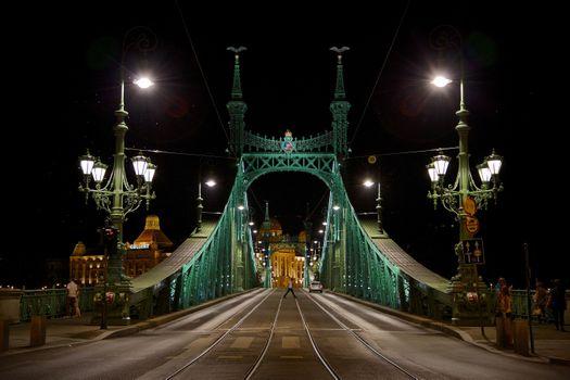 Фото бесплатно Liberty Bridge, Budapest, ночь