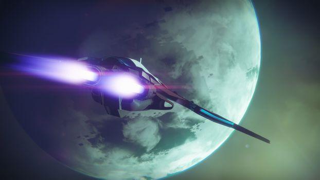 Заставки космический корабль, планета, галактика