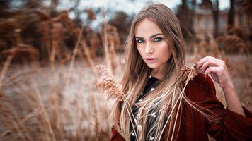 Фото бесплатно голубые глаза, длинные волосы, блондинка