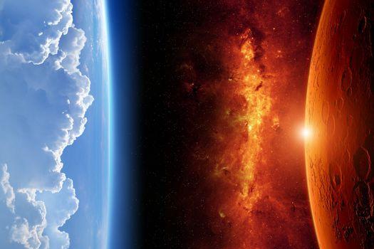 Фото бесплатно земля, луна, планеты