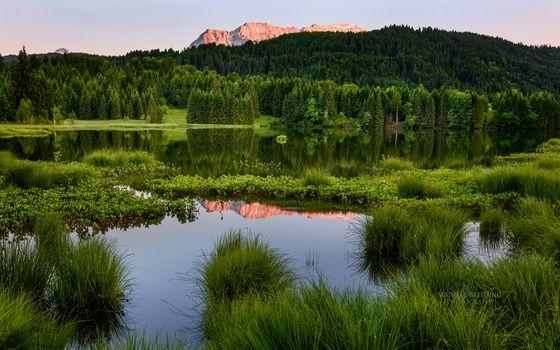 Photo free mountains, nature reserve, lake