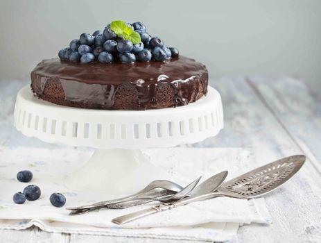 Фото бесплатно tort, shokoladnyy, chernika