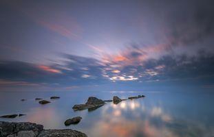 Фото бесплатно скалы, океан, облака