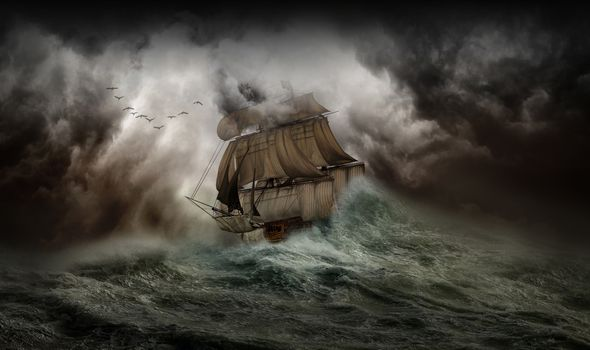 Photo free storm, sailboat, art