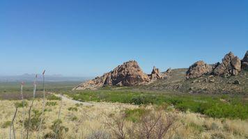 Фото бесплатно Нью-Мексико, чистое небо, камни