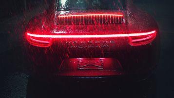 Фото бесплатно Porsche 911, дождь, машины