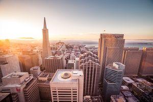 Фото бесплатно Сан-Франциско, закат, здания