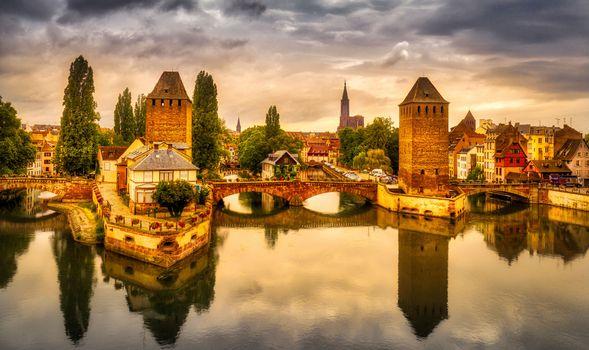 Фото бесплатно Страсбург, Франция, Рейн