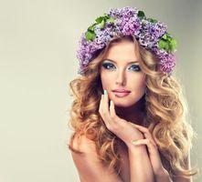 Фото бесплатно девушка, цветы, макияж