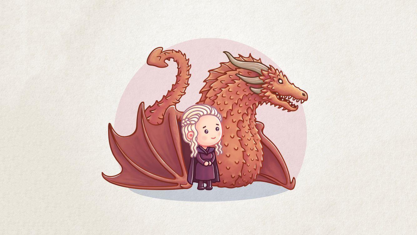 Фото Игра Престолов дракон Дейенерис Таргариен - бесплатные картинки на Fonwall