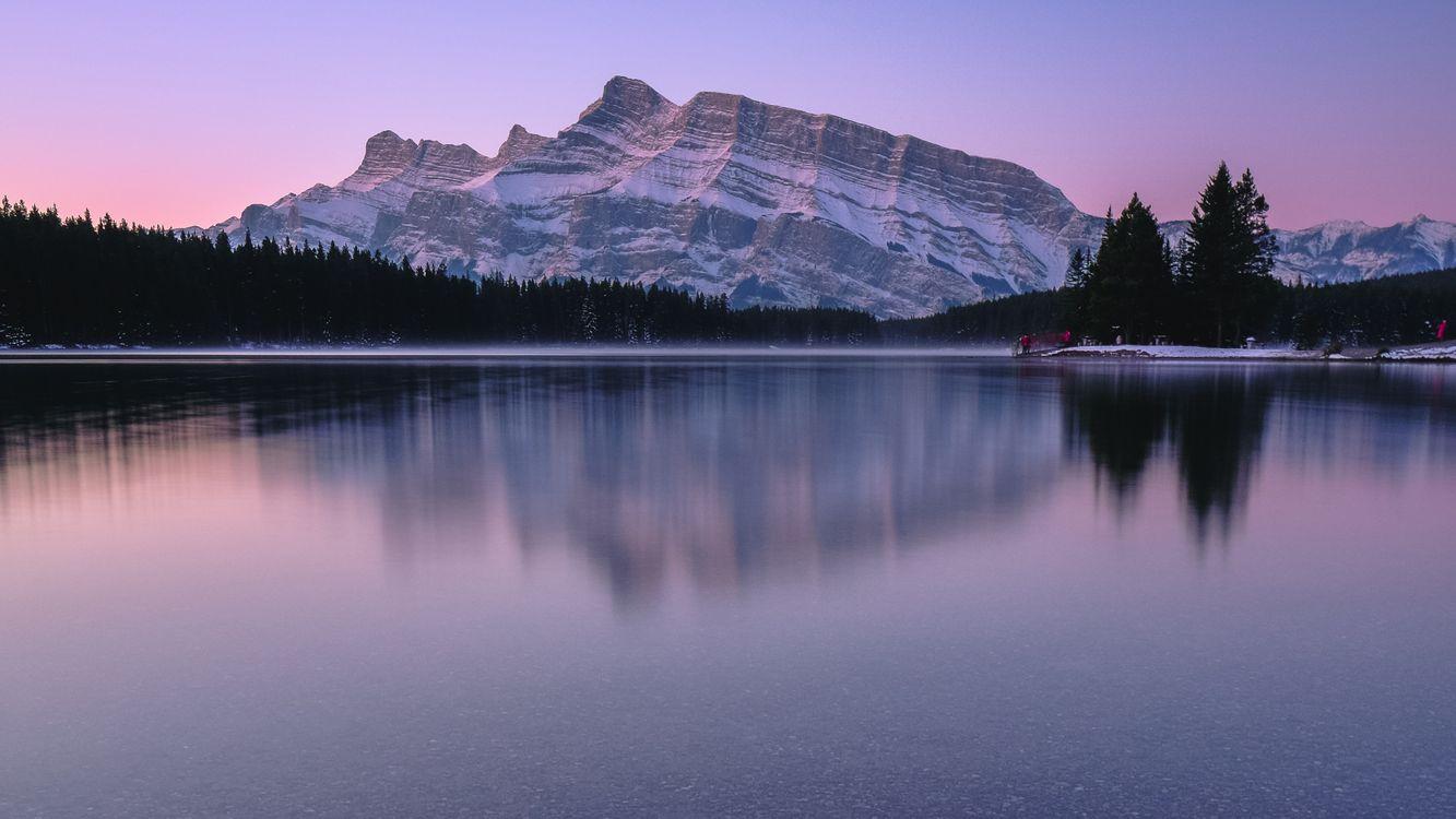 Фото отражение горы природа - бесплатные картинки на Fonwall