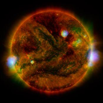 Фото бесплатно пространство, вселенная, звезды, звезда, вспышки, протуберанцы, температура, магма, лава, свечение, радиация, энергия