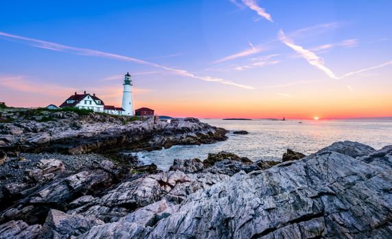 Photo free sea, Cape Elizabeth, Lighthouse