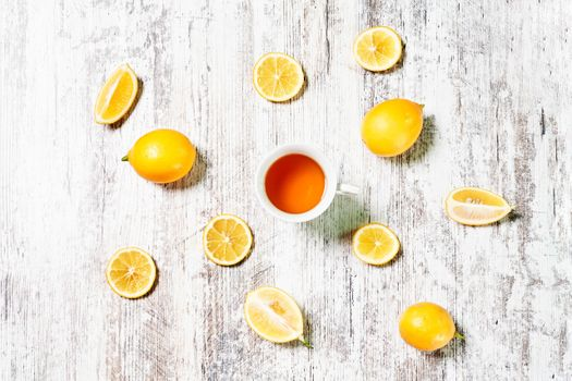 Photo free food, tea, lemons
